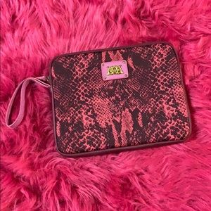 Juicy Couture Pink & Purple Snakeskin Makeup Bag